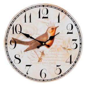 nástenné hodiny vtácik