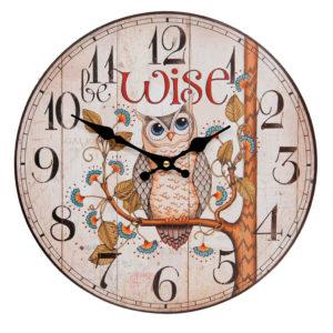 nástenné hodiny sovička